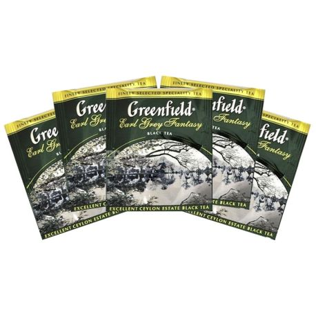 Greenfield, Earl Grey Fantasy, 100 пак., Чай Грінфілд, Ерл Грей Фентезі, чорний з бергамотом HoReCa