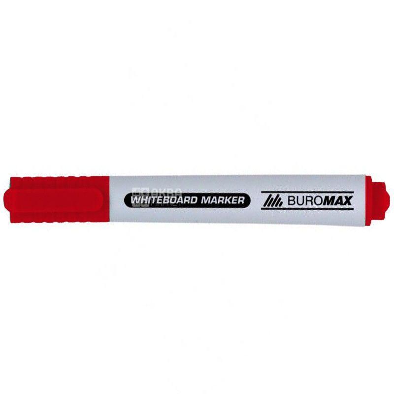 Buromax, Маркер для дошок, Червоний, 2-4 мм, 1 шт.