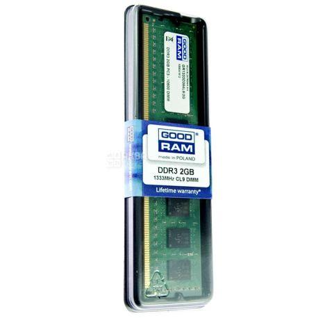 Goodram, 2 Гб, оперативная память, DDR3, 1333 мГц