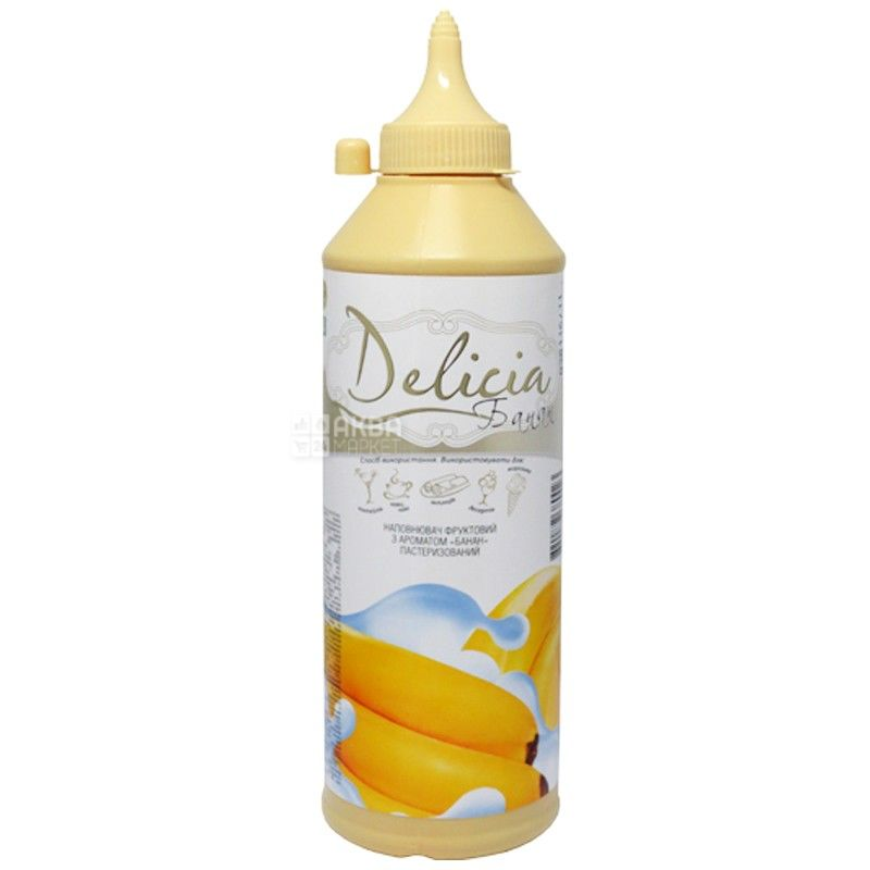 Delicia, Банан, 600 г, Деліція, Топінг з фруктовим ароматом