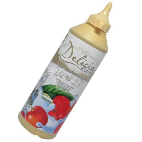 Delicia, Вишня, 600 г, Делиция, топпинг с фруктовым ароматом