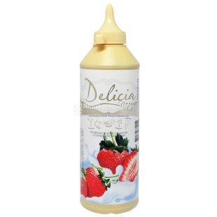 Delicia, Клубника, 600 г, Делиция, топпинг с фруктовым ароматом