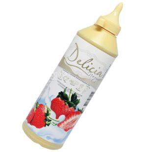 Delicia, Полуниця, 600 г, Деліція, Топінг з фруктовим ароматом