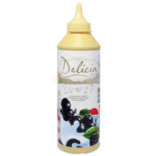 Delicia, Лесные ягоды, 600 г, Делиция, топпинг с фруктовым ароматом