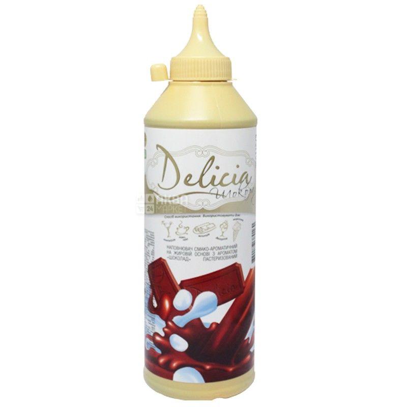 Delicia, Шоколад, 600 г, Деліція, Топінг, ароматизований