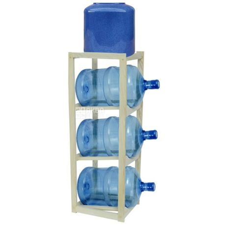ViO, Shelf rack wooden for water under 3 bottles, WS-3 BEECH