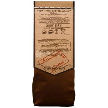 Eggo Coffee Deluxe, 100 г, Кава Егго Делюкс, середнього обсмаження, мелена