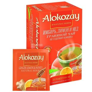 Alokozay, 25 pcs., Herbal tea, Ginger, honey and lemon