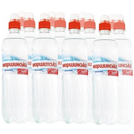 Моршинская, Упаковка 12 шт. по 0,75 л, Вода негазированная, Спорт, ПЭТ