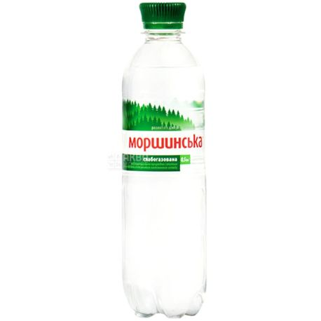 Моршинська, Упаковка 12 шт. по 0,5 л, Вода слабогазована, ПЕТ