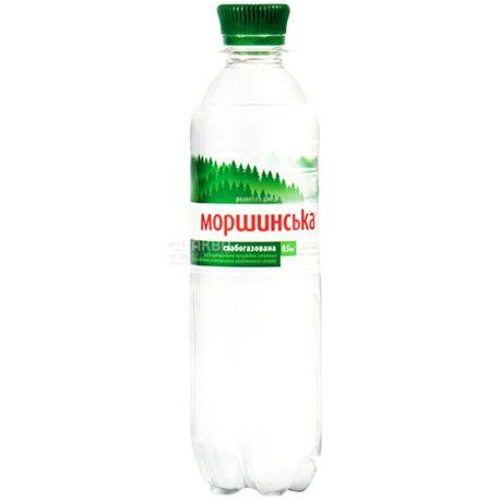 Моршинська, 0,5 л, упаковка 12 шт., Вода мінеральна слабогазована, ПЕТ