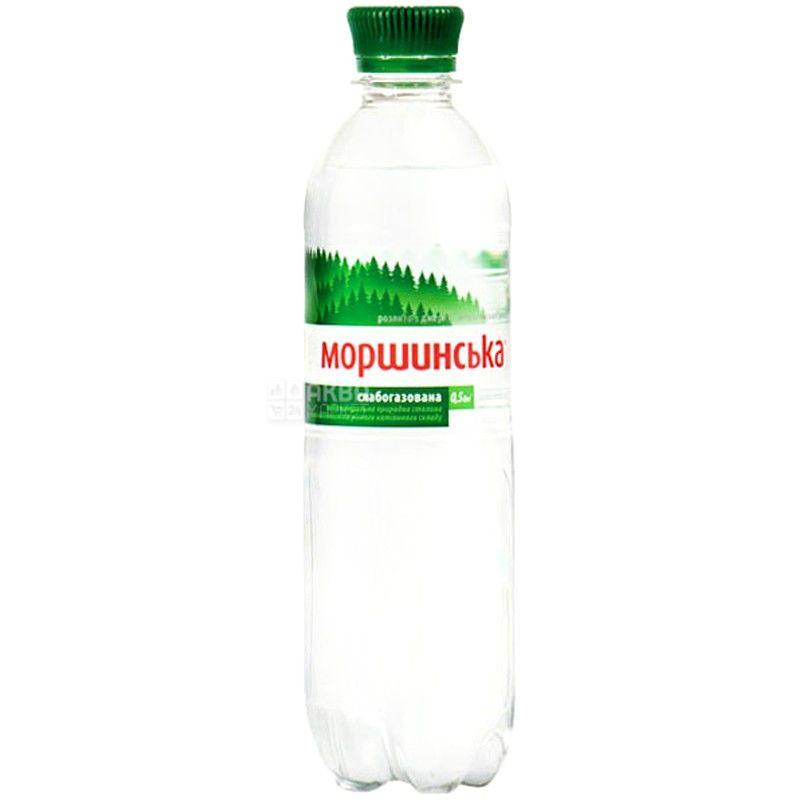 Моршинская, Вода минеральная слабогазированная, 0,5 л, упаковка 12 шт., ПЭТ