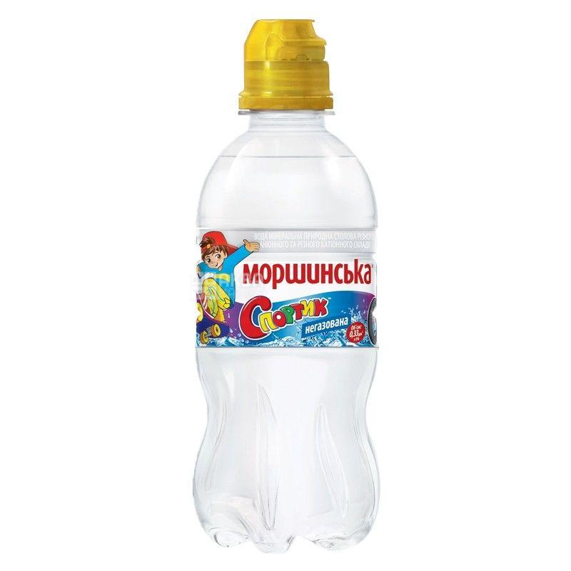 Моршинская Спортик, Вода Детская негазированная, 0,33 л, Упаковка 12 шт.