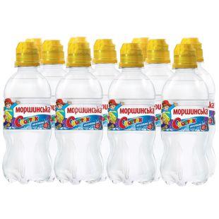 Моршинская, Упаковка 12 шт. по 0,33 л, Вода негазированная, Спортик, ПЭТ