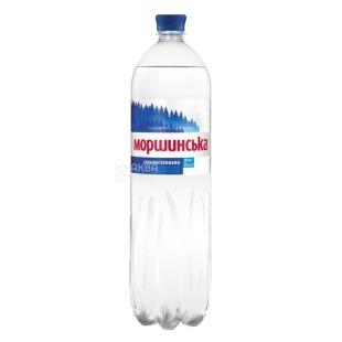 Моршинская, упаковка 6 шт. по 1,5 л, сильногазированная вода, ПЭТ