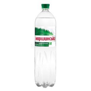 Моршинская, упаковка 6 шт. по 1,5 л, слабогазированная вода, ПЭТ