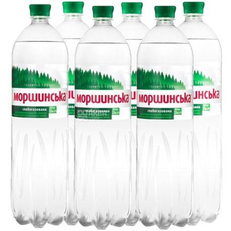 Моршинська, Упаковка 6 шт., 1,5 л, Вода слабогазована, ПЕТ