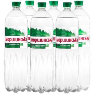 Моршинская, Вода минеральная слабогазированная, 1,5 л, Упаковка 6 шт.