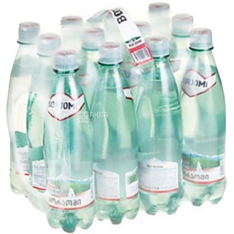 Borjomi, 0,5 л, Упаковка 12 шт., Боржомі, Вода мінеральна сильногазована, ПЕТ