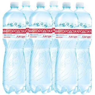 Миргородская, упаковка 6 шт. по 1,5 л, негазированная вода, Лагидна, ПЭТ