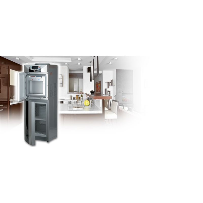 Ecotronic C3-LFPM Silver / Black, кулер для води підлоговий