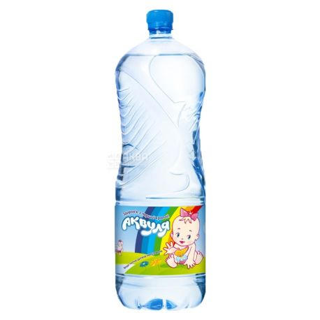 Akvulya, Packing 4 pcs. on 2 l, Water not aerated, Children, PET, PAT