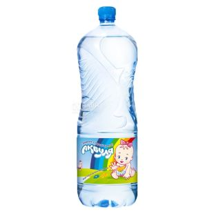 Akvulya, Packing 4 pcs. on 2 l, Water not aerated, Children, PET, PAT