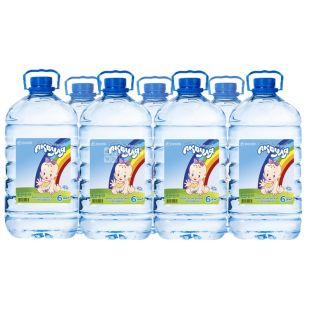 Akvulya, Packing 10 pcs. on 6 l, Water not aerated, Children, PET, PAT