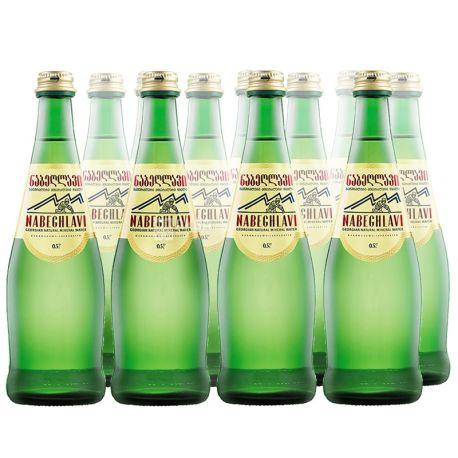 Nabeghlavi, 0,5 л, Набеглави, Упаковка 12 шт., Вода минеральная сильногазированная, стекло