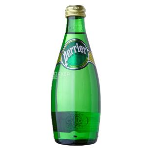 Perrier, Packing 24 pcs. 0.33 l each, highly carbonated water, glass, glass
