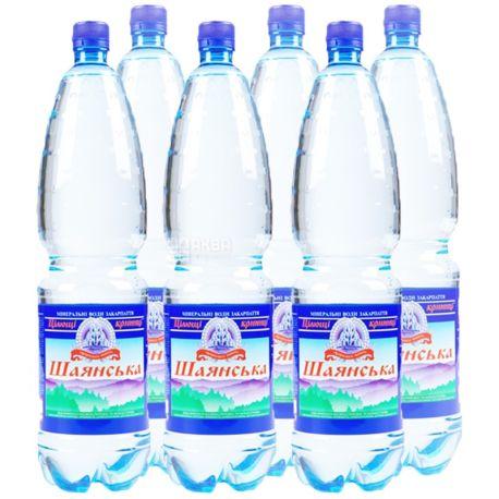 Шаянська, 1,5 л, Упаковка 6 шт., Вода сильногазована, ПЕТ