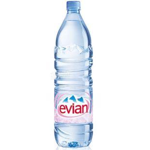 Evian, 1,5 л, Упаковка 12 шт., Эвиан, Вода негазированная, ПЭТ