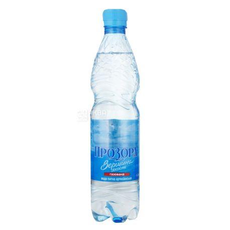 Прозора, 0,5 л, Упаковка 12 шт., Вода мінеральна сильногазована, ПЕТ