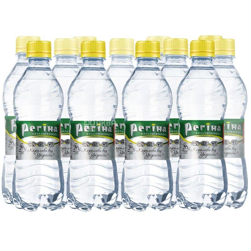 Регина, 0,33л, Упаковка 12 шт., Вода сильногазированная минеральная, ПЭТ