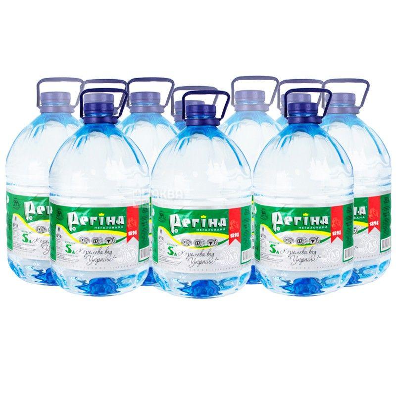 Регіна, 5 л, Упаковка 10 шт., Вода негазована мінеральна, ПЕТ