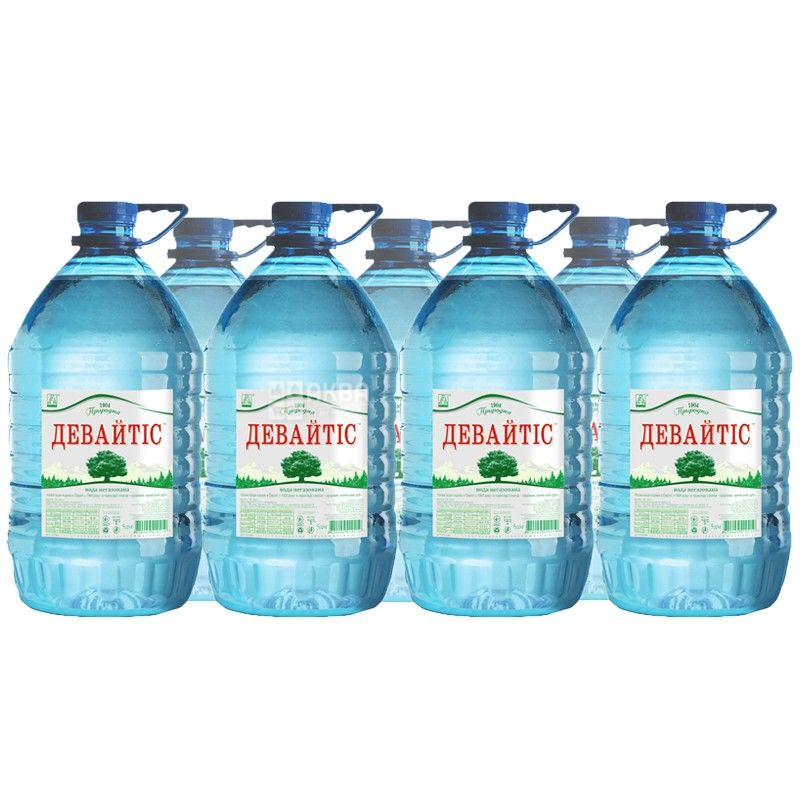 Девайтіс, 5 л, Упаковка 10 шт., Вода мінеральна негазована, ПЕТ