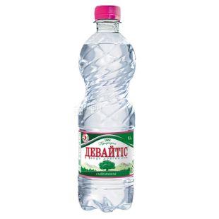 Девайтис, упаковка 12 шт. по 0,5 л, слабогазированная вода, ПЭТ
