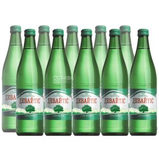 Devaytis, Packing 12 pcs. 0.5 liters, lightly carbonated water, glass, glass