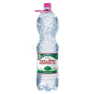 Девайтис, упаковка 6 шт. по 1,5 л, слабогазированная вода, ПЭТ