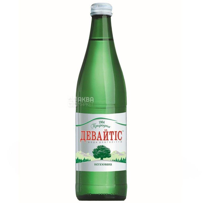 Девайтис, Упаковка 12 шт. по 0,5 л, Вода негазированная, Минеральная, стекло