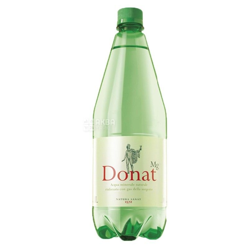 Donat Mg, pack of 6 pcs. 1 l each, carbonated water, PET, PAT