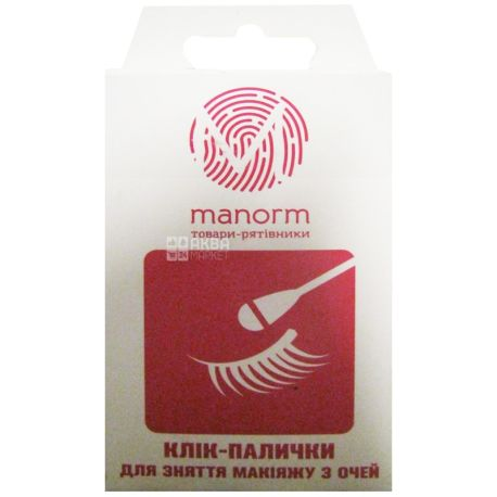 Manorm, 20 pcs., Q-tips, For make-up correction, m / s