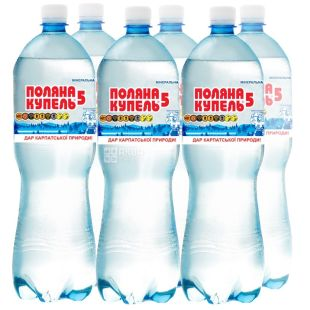 Polyana Kupel-5, pack of 6 pcs. 1.5 l each, carbonated water, PET, PAT