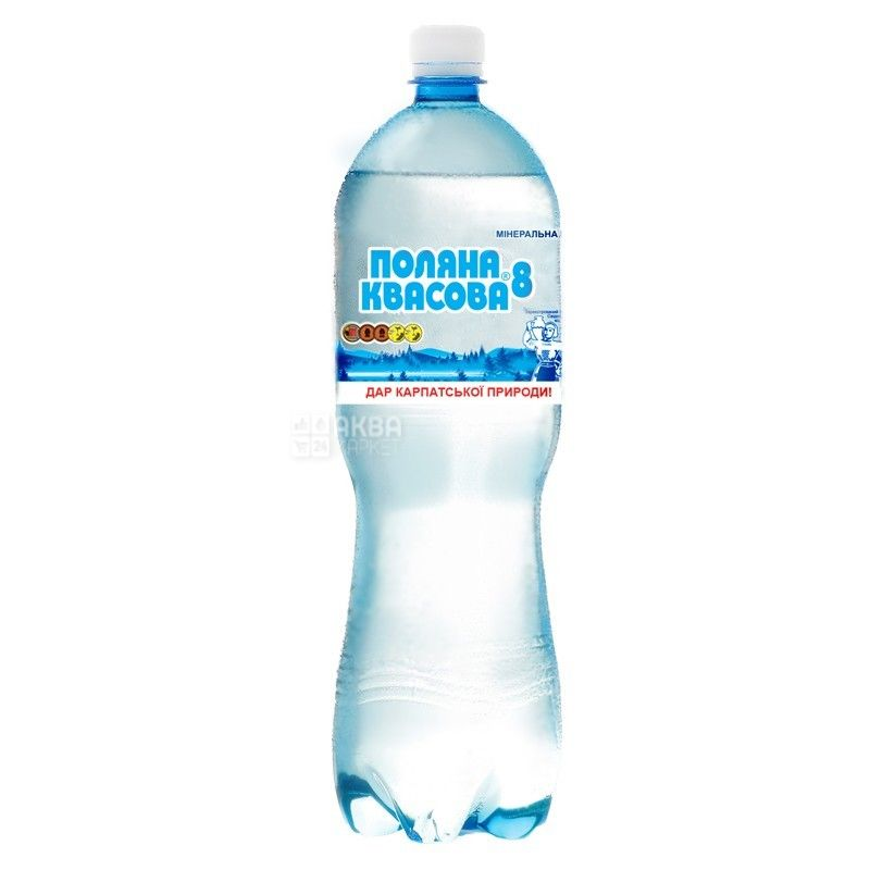 Поляна Квасова-8, упаковка 6 шт. по 1,5 л, газированная вода, ПЭТ