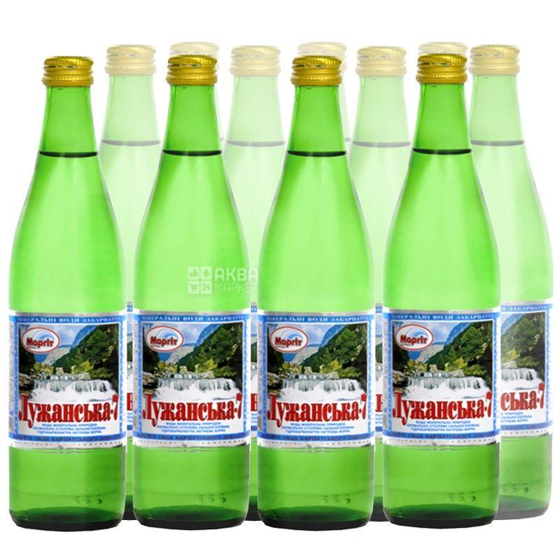 Лужанська-7, 0,5 л, Упаковка 11 шт., Вода мінеральна газована, скло