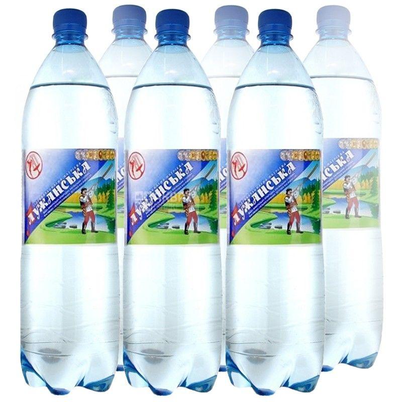 Лужанская, Упаковка 6 шт. по 1,5 л, Вода газированная, Минеральная, ПЭТ