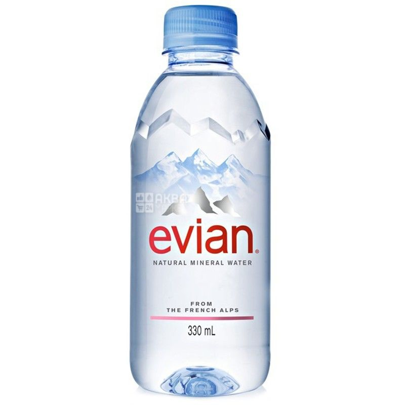 Evian, Упаковка 6 шт. по 0,33 л, Вода негазированная, ПЭТ