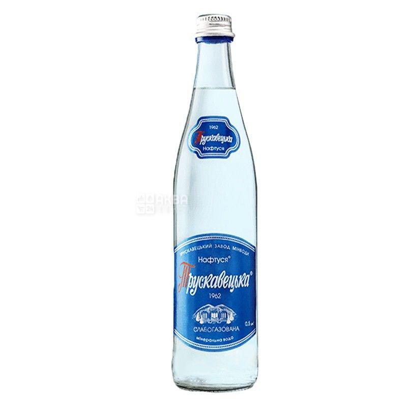 Трускавецкая Нафтуся, 0,5 л, Упаковка 12 шт., Вода слабогазированная, стекло