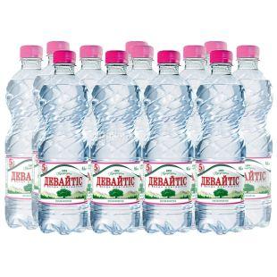 Девайтис, упаковка 12 шт. по 0,5 л, негазированная вода, ПЭТ