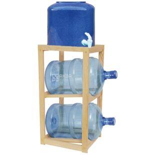 Полка деревянная под 2 бутыли, WS-2 БУК